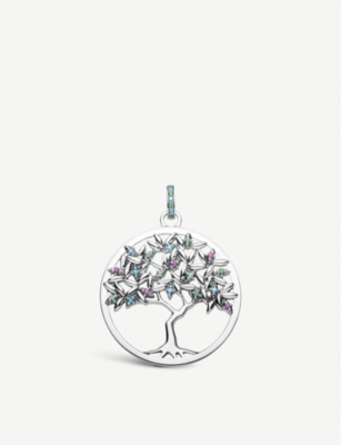 THOMAS SABO Paradise Tree of Love sterling silver gemstone pendant