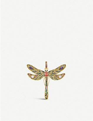 THOMAS SABO: Paradise Colours 18ct yellow gold-plated silver pendant