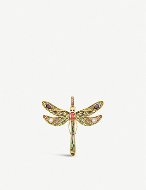 THOMAS SABO Paradise Colours 18ct yellow-gold plated silver pendant