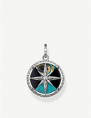 THOMAS SABO: Arizona Colours compass sterling silver pendant