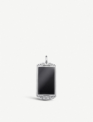 THOMAS SABO Large Arizona Dog Tag sterling-silver and onyx pendant