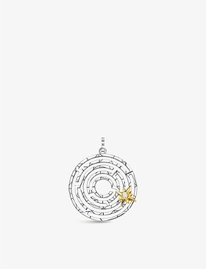 THOMAS SABO 18ct gold-plated, sterling silver and zirconia pendant
