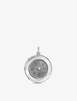 THOMAS SABO Chinese sign compass sterling silver and zirconia pendant
