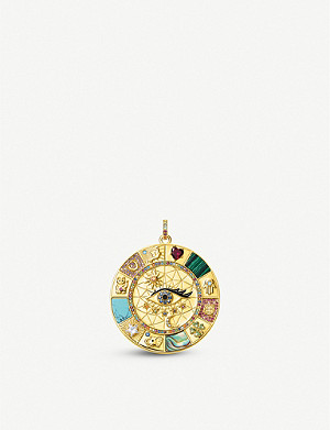 THOMAS SABO Magical Lucky Symbol 18ct gold-plated sterling silver pendant