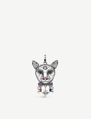 THOMAS SABO Cat-shaped sterling silver and zirconia pendant