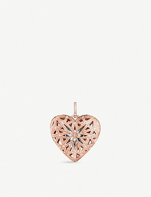 THOMAS SABO 18ct rose-gold filigree heart locket pendant