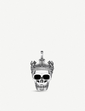 THOMAS SABO Skull-shaped sterling silver and zirconia pendant