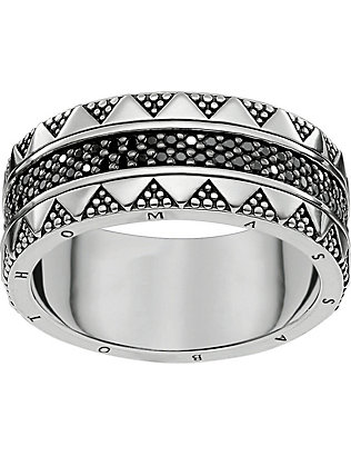 THOMAS SABO: Filigree sterling silver and zirconia ring