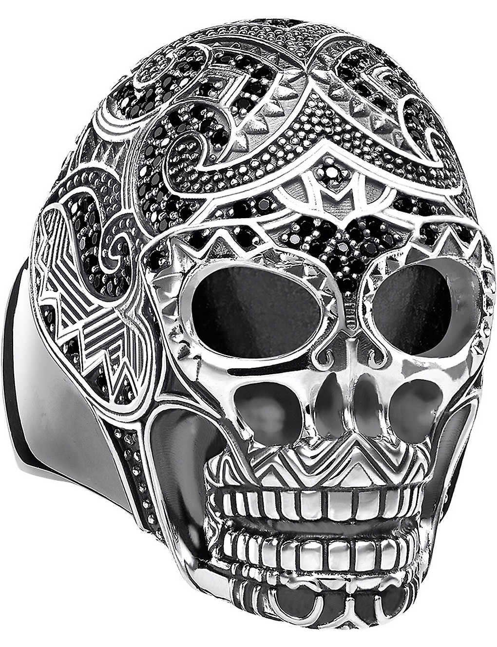 THOMAS SABO: Rebel at Heart skull sterling silver ring