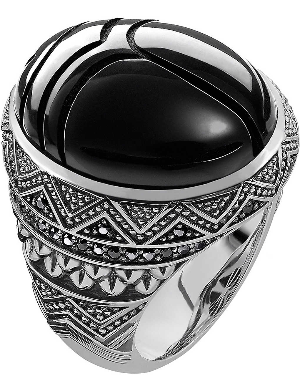 THOMAS SABO: Scarab sterling silver ring