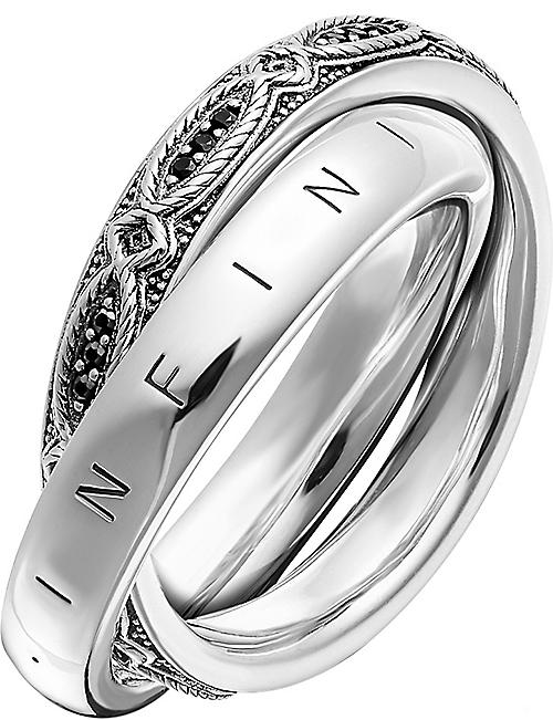 THOMAS SABO: Infinity Of Love sterling silver and zirconia intertwined ring