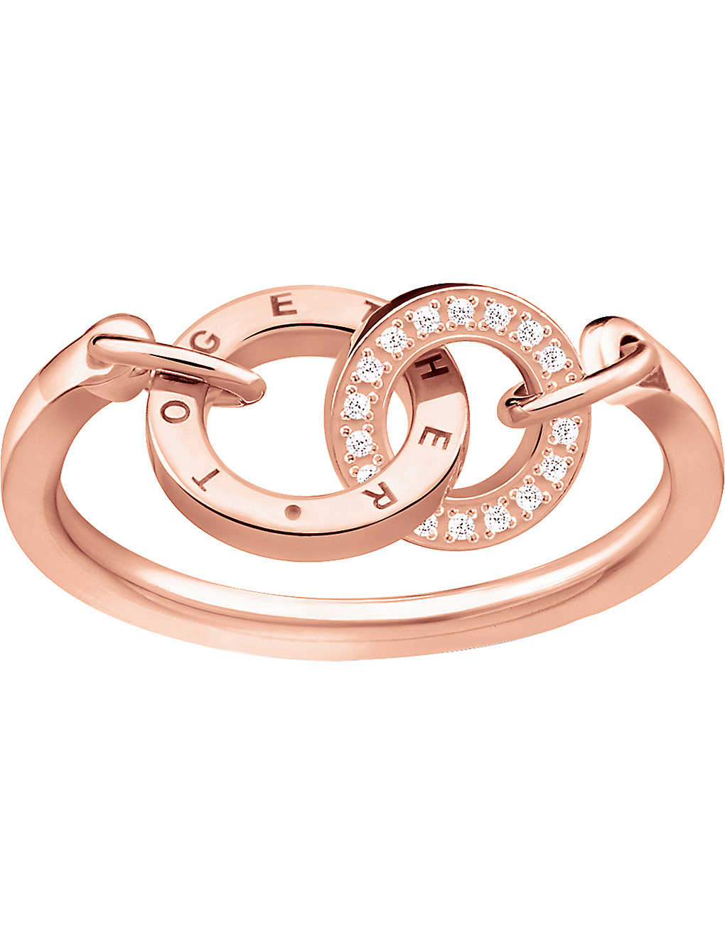20acc9f36 THOMAS SABO - Together Forever 18ct rose gold-plated ring ...