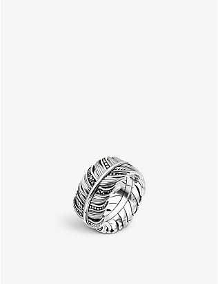 THOMAS SABO: Rebel at heart feather sterling silver ring