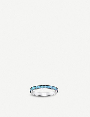 THOMAS SABO Tropical sterling silver and turquoise band ring