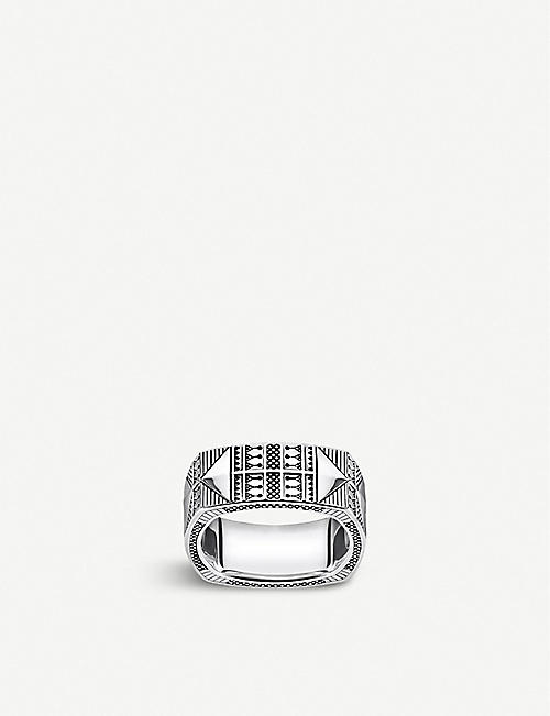 THOMAS SABO: Engraved silver ring