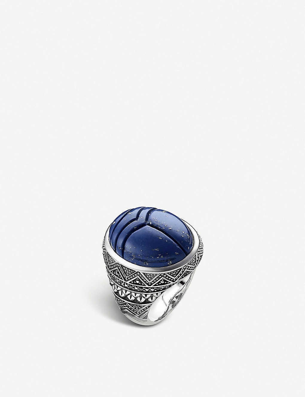 THOMAS SABO: Rebel at Heart scarab beetle silver signet ring