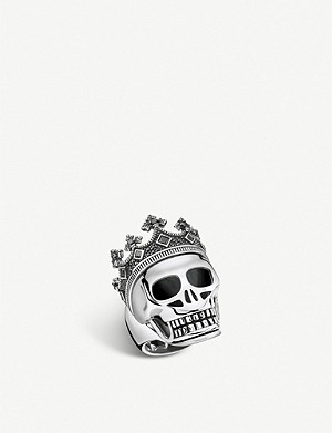 THOMAS SABO Rebel Kingdom skull crown silver ring