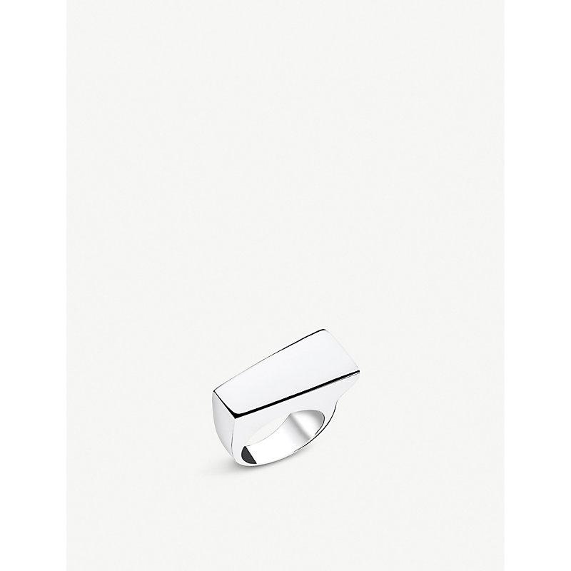 THOMAS SABO | Heritage Bar Sterling Silver Chunky Ring | Goxip