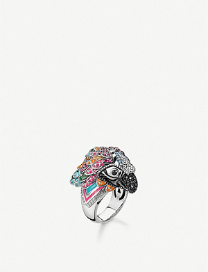 THOMAS SABO Parrot sterling silver and zirconia ring