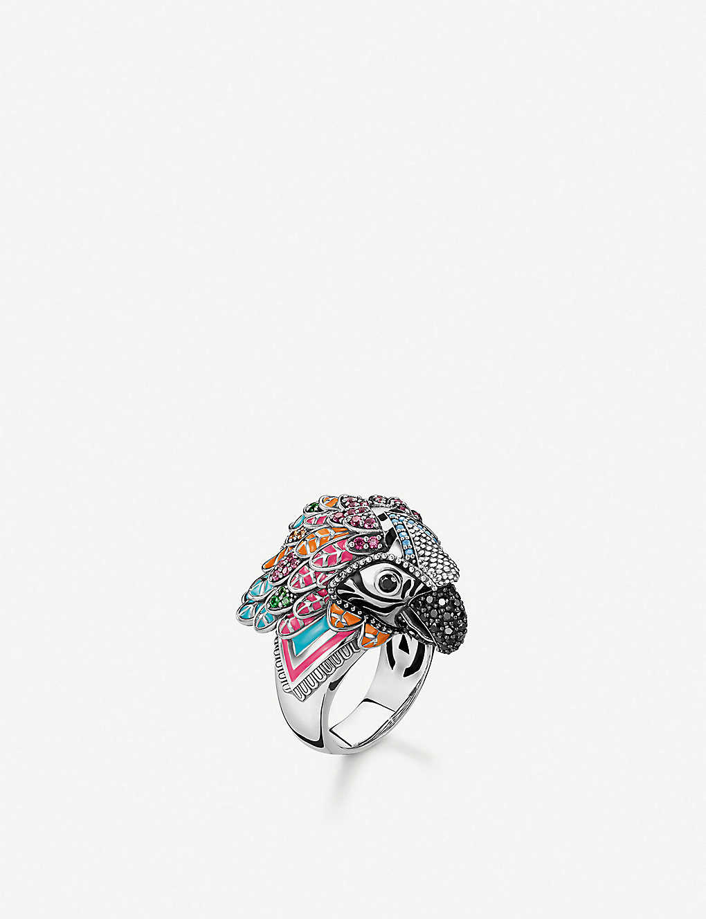 THOMAS SABO: Parrot sterling silver and zirconia ring