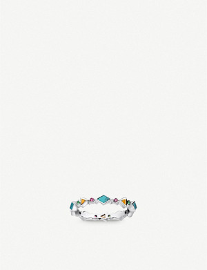 THOMAS SABO Colourful Stones sterling silver and zirconia band ring