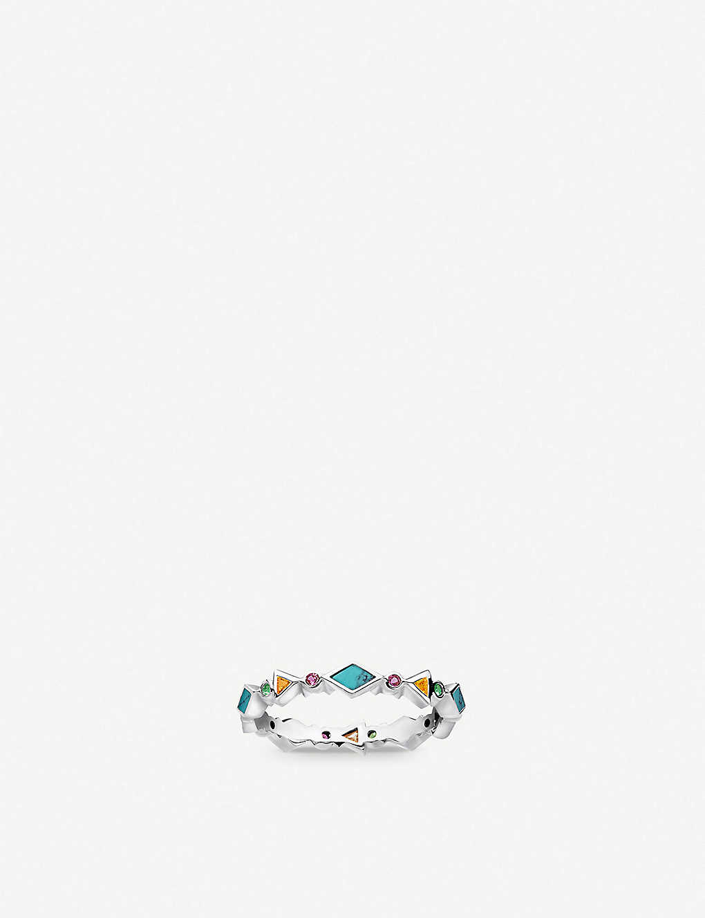 THOMAS SABO: Colourful Stones sterling silver and zirconia band ring