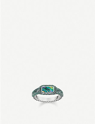 THOMAS SABO: Play Of Colours sterling silver, glass stones and abalone mother-of-pearl ring