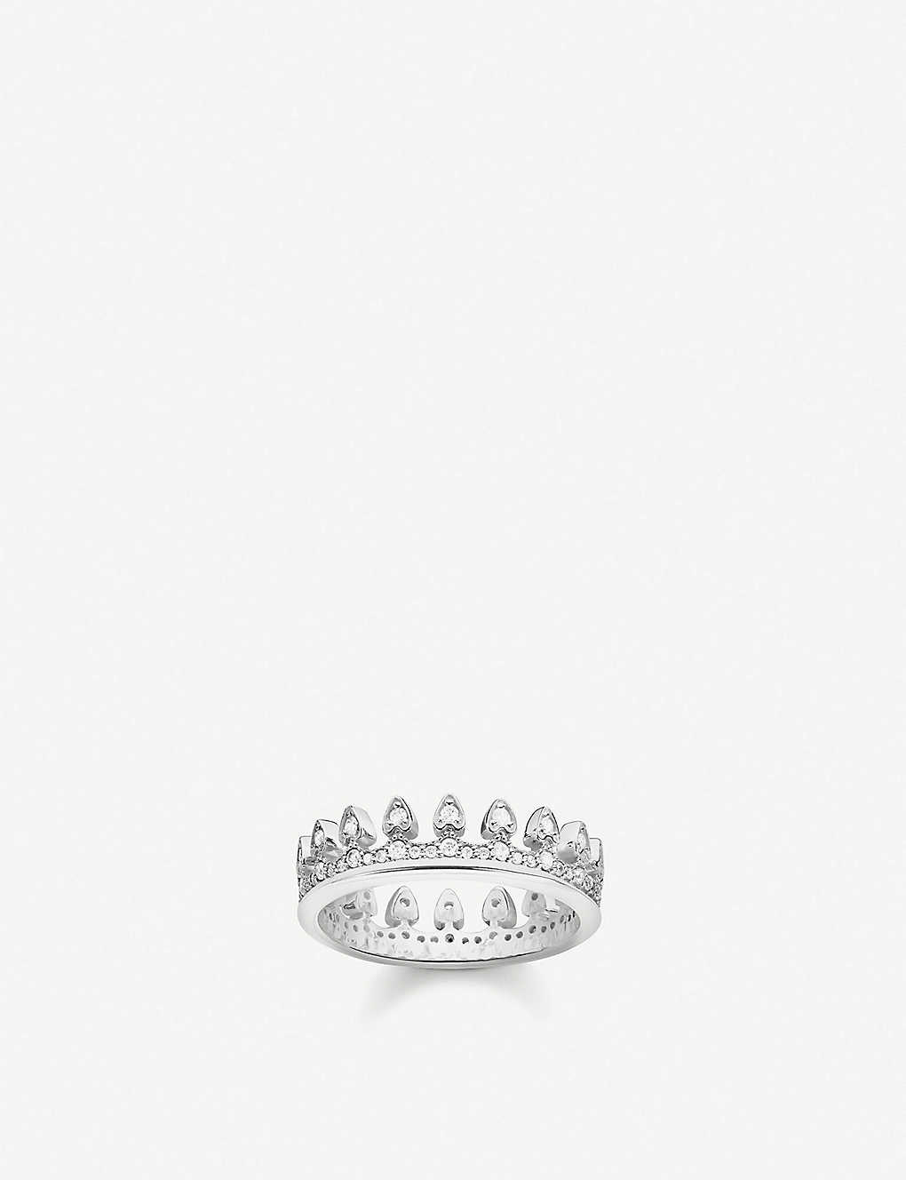 THOMAS SABO: Crown sterling silver and cubic zirconia ring
