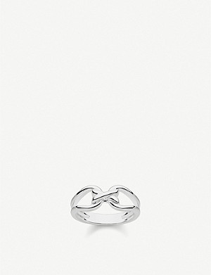 THOMAS SABO Heritage sterling silver interlocking ring