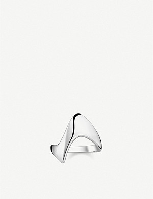 THOMAS SABO Heritage sterling silver wave ring