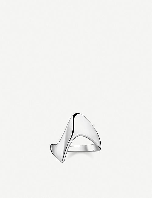 THOMAS SABO: Heritage sterling silver wave ring