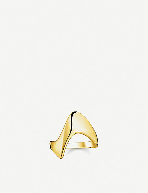 THOMAS SABO Heritage 18ct yellow-gold plated sterling silver wave ring