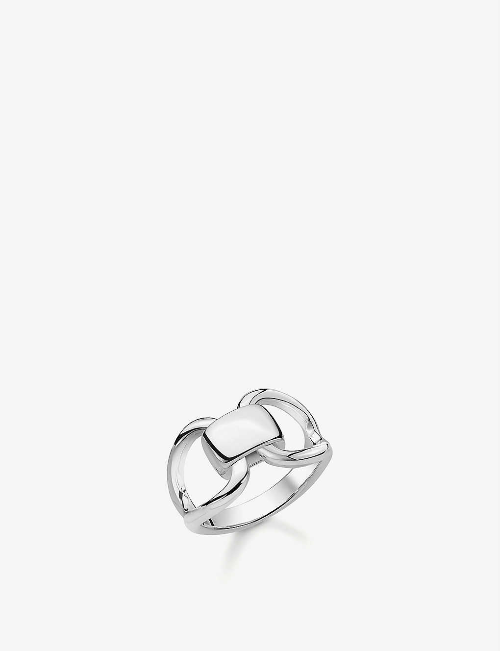 THOMAS SABO: Heritage sterling silver buckle ring