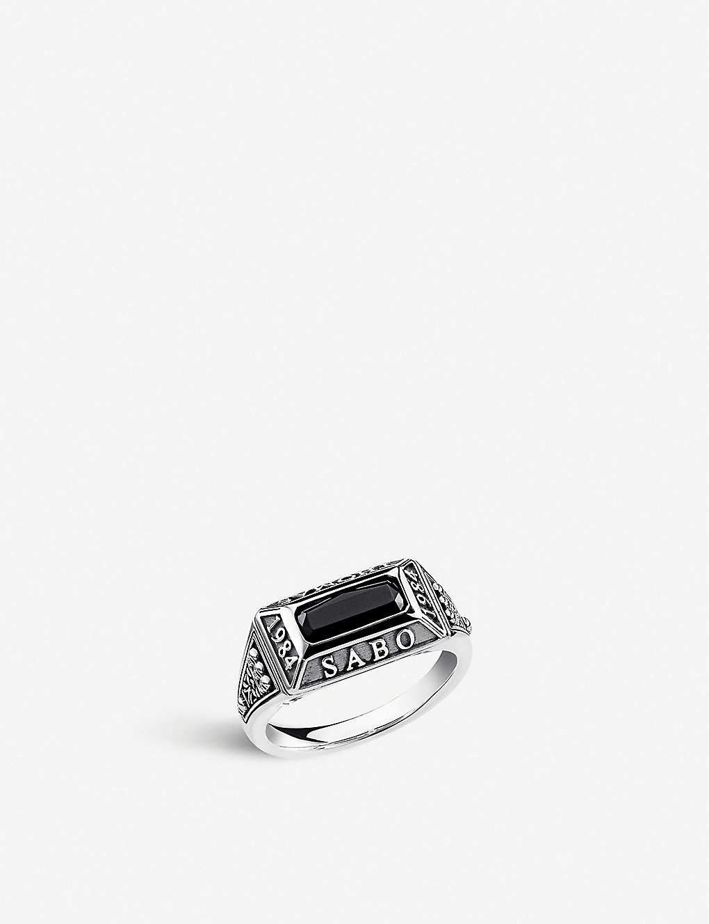 THOMAS SABO: Arizona sterling silver and onyx ring