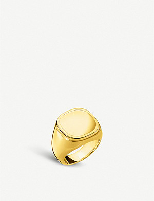 THOMAS SABO Classic 18ct yellow-gold plated silver signet ring