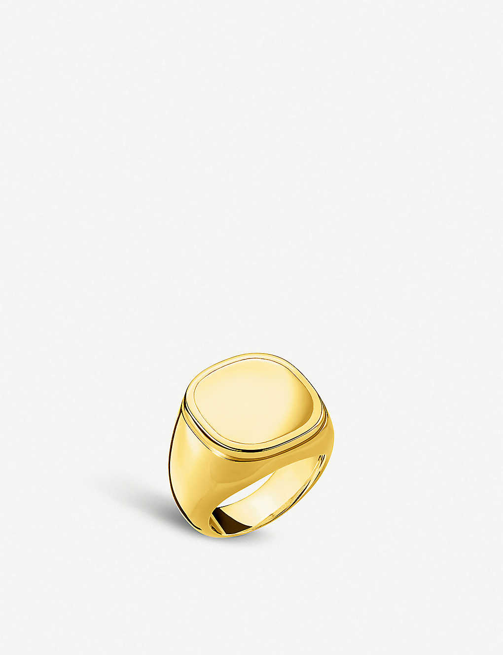 THOMAS SABO: Classic 18ct yellow-gold plated silver signet ring
