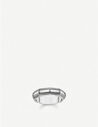 THOMAS SABO: Angular sterling silver band ring
