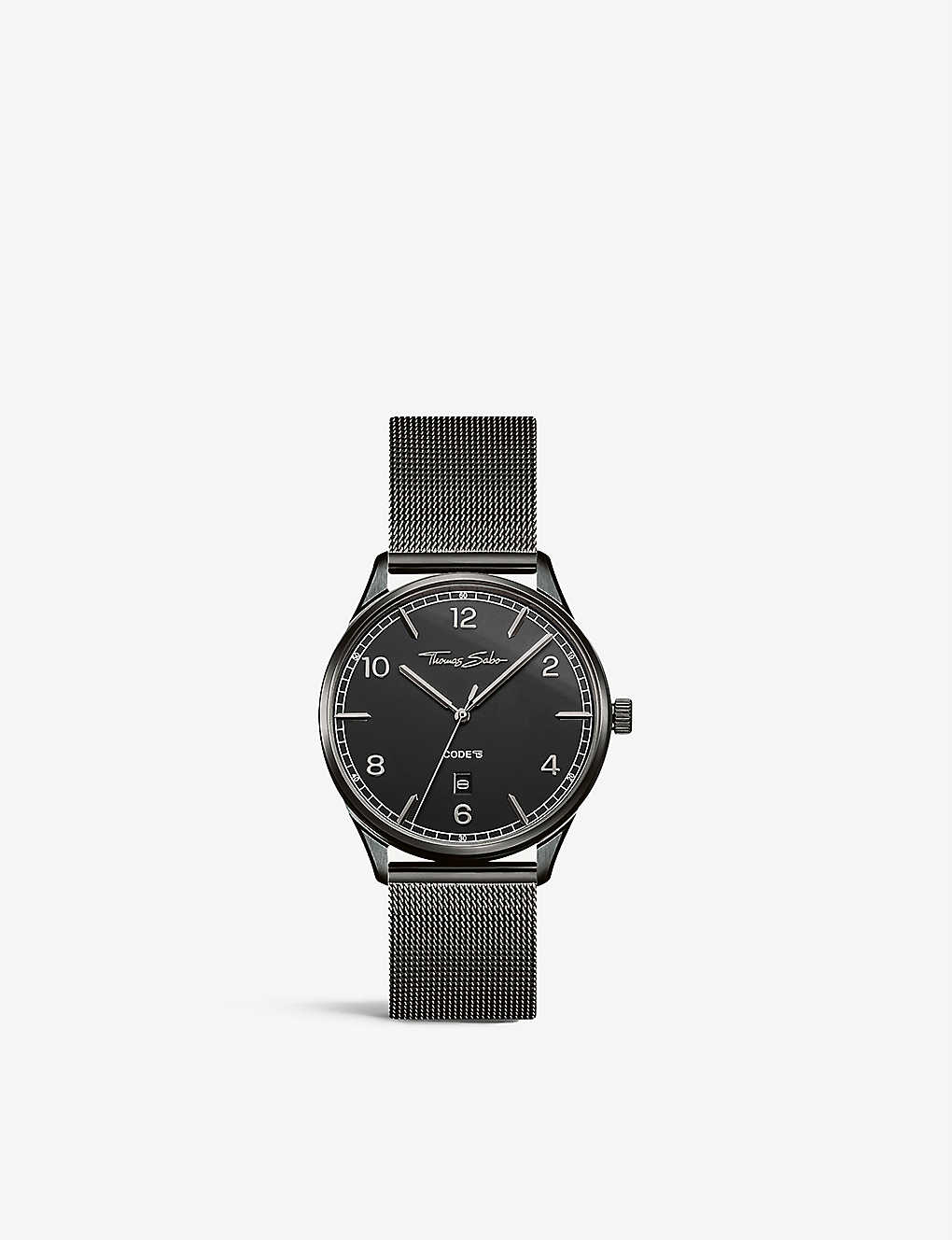 THOMAS SABO: WA0342202203 Code TS ion-plated stainless steel watch