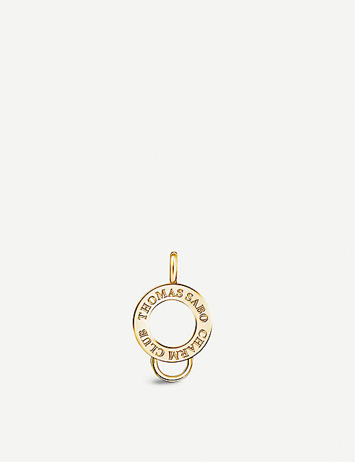 THOMAS SABO: Yellow gold-plated charm carrier