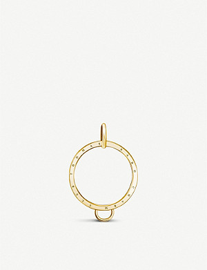 THOMAS SABO Charm Club 18ct gold-plated circle charm carrier