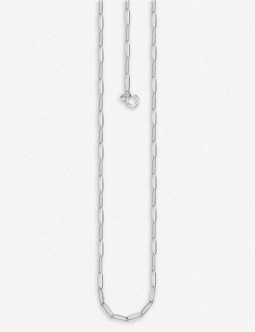 THOMAS SABO: Link sterling silver charm necklace