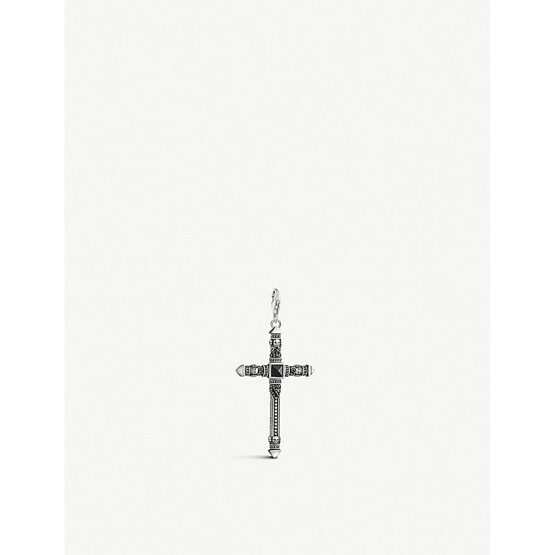 THOMAS SABO | Charm Club Sword Cross Sterling Silver And Agate Charm | Goxip