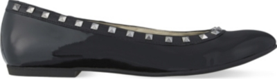 STEP2WO Piazza 2 leather studded ballerina flats 6-11 years