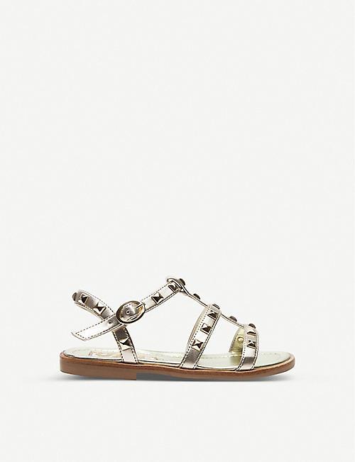 debfb030463c5 STEP2WO Sophia studded metallic leather gladiator sandals 6-10 years