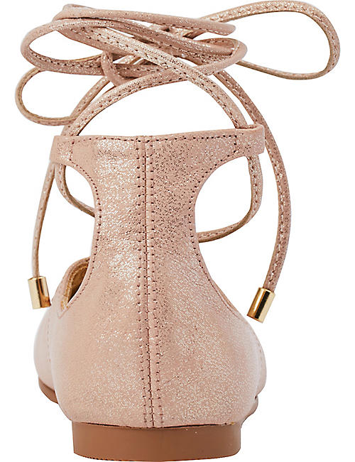 STEP2WO Sirena lace-up leather ballerina shoes 6-10 years