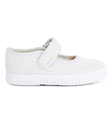 80e5b0107e17 STEP2WO Greta glitter canvas mary jane shoes 1-7 years (Silver+glitter