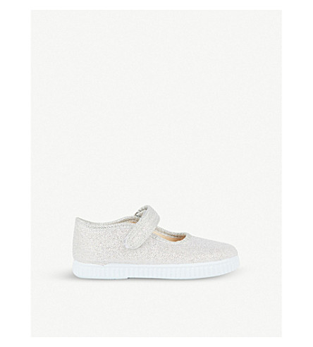 b3dcf8a25c97 STEP2WO Greta glitter canvas shoes 3-7 years (Silver+glitter