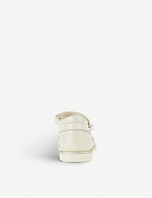 STEP2WO Marta bow-detail leather sandals 1-5 years