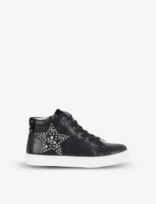STEP2WO Astro star-studded leather trainers