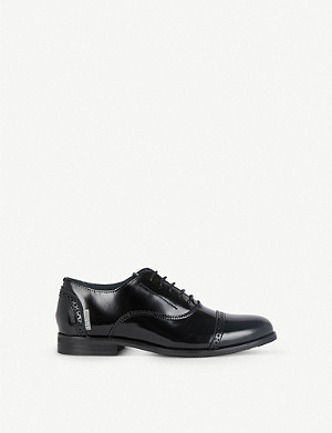 STEP2WO Jacob brogue-detail lace-up leather shoes